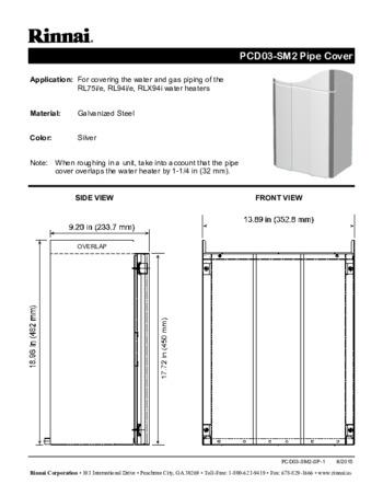 RL75IN Tankless Water Heater Rinnai America