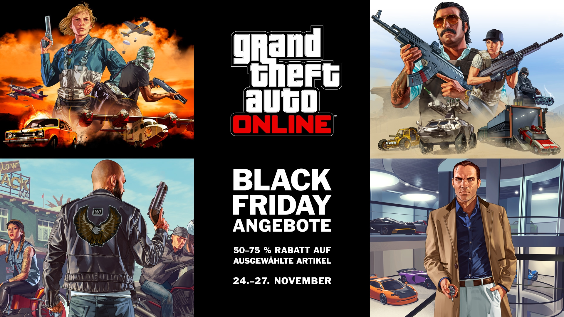 Black Friday Wochenende Rabatte Am Black Friday Wochenende In Gta Online 24 27 11