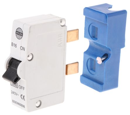 RS/B16 Wylex 16A 1 Pole Type B Miniature Circuit Breaker Plug In B