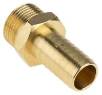 RS Pro Straight Brass Hose Connector, 3/4 in G Male