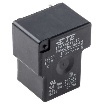 T9AS5D12-12\u003dT9A TE Connectivity SPDT Non-Latching Relay PCB Mount