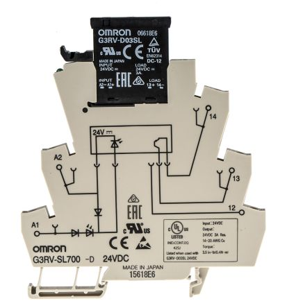 G3RV-SL700-D 24VDC Omron 3 A SPST Solid State Relay, DIN Rail