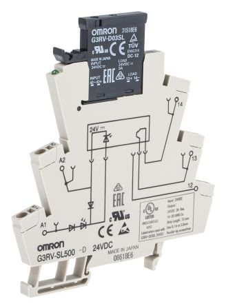 G3RV-SL500-D 24VDC Omron Omron 3 A SPST Solid State Relay, DIN