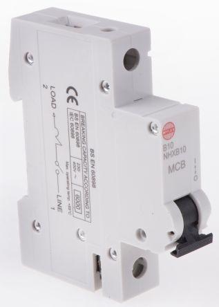 RSNHXB10 Wylex 10A 1 Pole Type B Miniature Circuit Breaker NSB