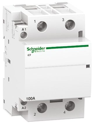 A9C20882 Schneider Electric Acti 9 iCT 2 Pole Contactor, 2NO, 100