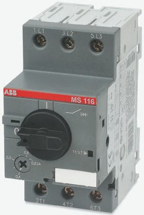 MS116-25 ABB Manual 3P Motor Protection Circuit Breaker, 690 V ac