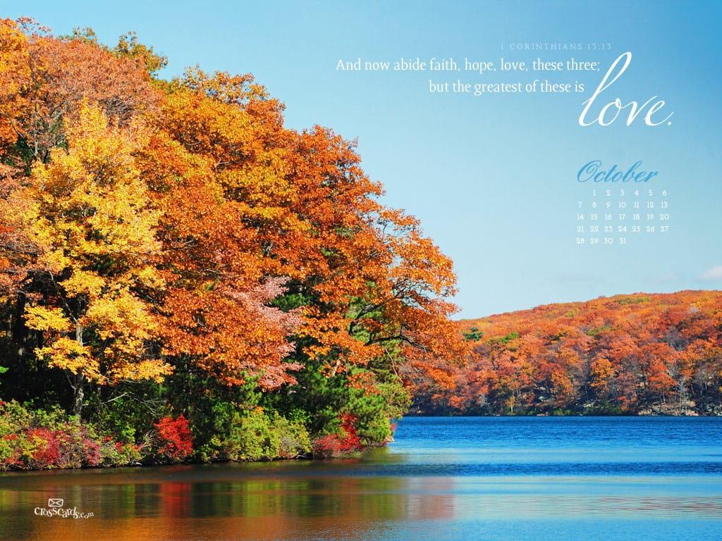 Free Desktop Wallpaper Scripture Fall Oct 2012 Love Desktop Calendar Free October Wallpaper