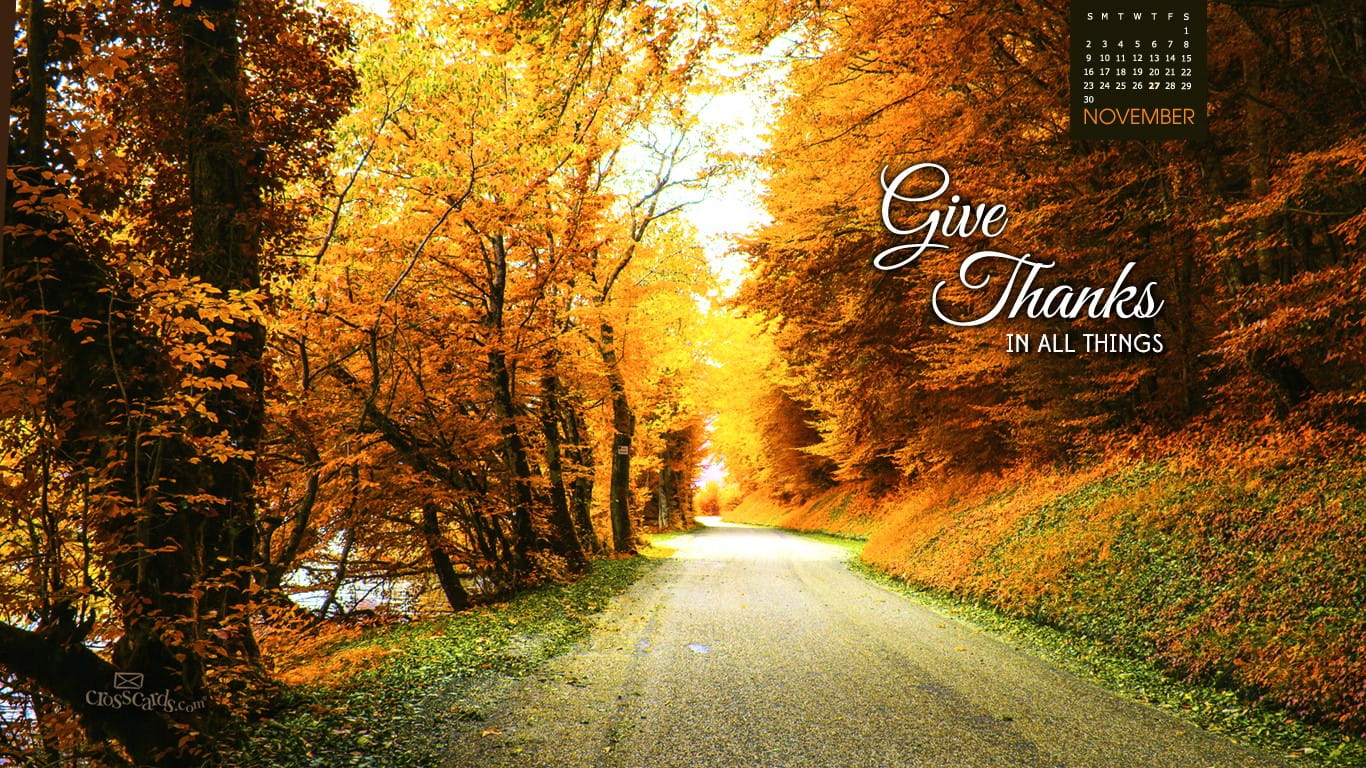 Fall Scripture Iphone Wallpaper November 2014 Give Thanks Desktop Calendar Free