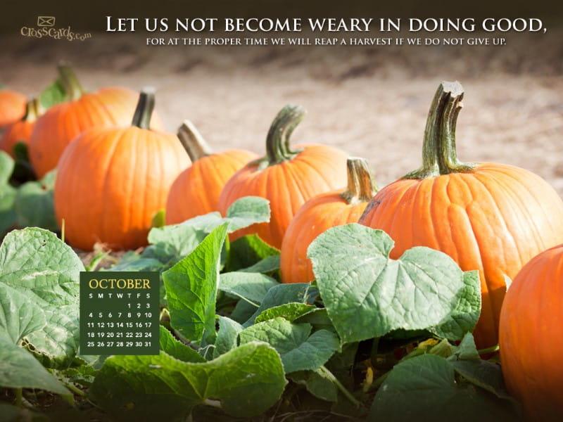 Fall Harvest Wallpaper Christian October 2015 Doing Good Desktop Calendar Free October