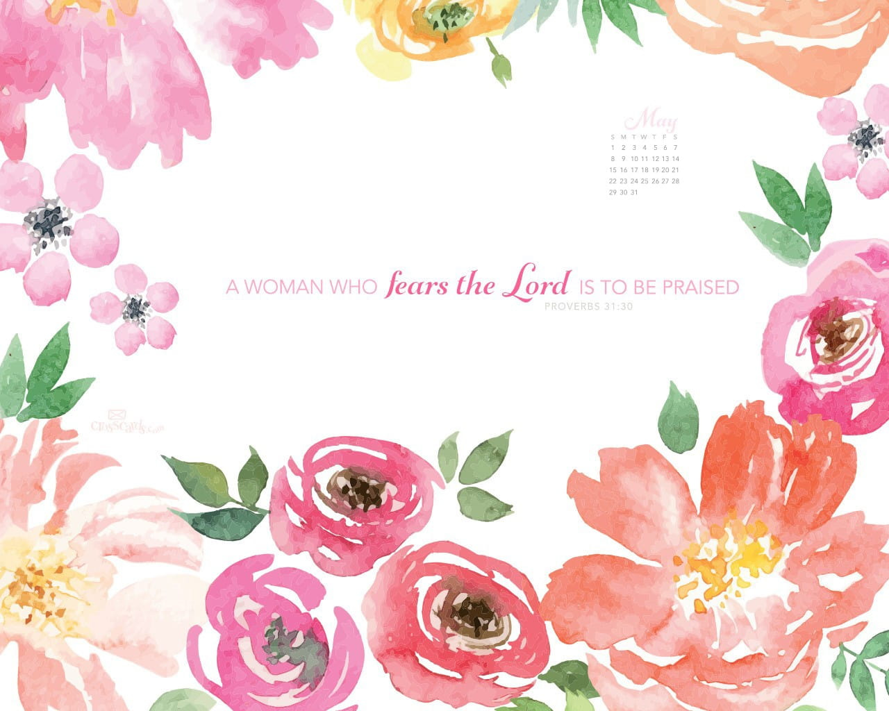 Fall Scripture Iphone Wallpaper May 2016 Proverbs 31 30 Desktop Calendar Free May Wallpaper