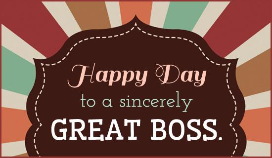 HAPPY BOSSu0027S DAY Happy Boss Day Pinterest Happy boss - sample coach thank you letter