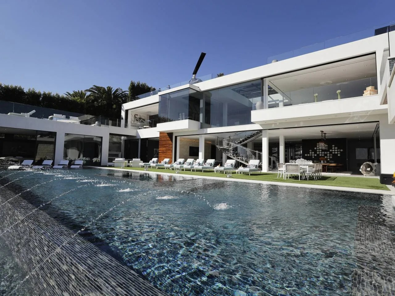Bel Air Mega Mansion For Sale Champagne Dreams 250 Million Los Angeles Mega Mansion Is
