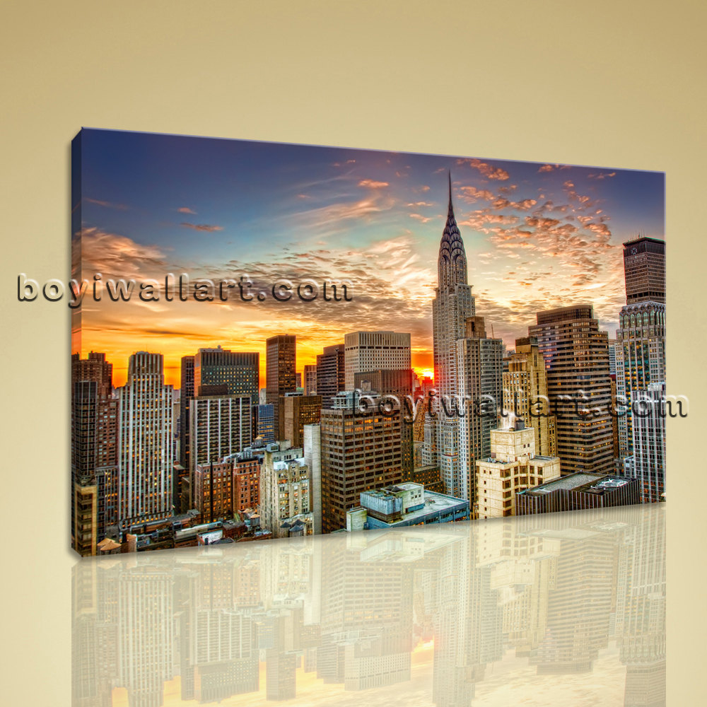 Canvas Giclee Large New York City Cityscape Wall Art On Canvas Giclee Print Home Decor Bedroom Large New York Wall Art Bedroom Tan