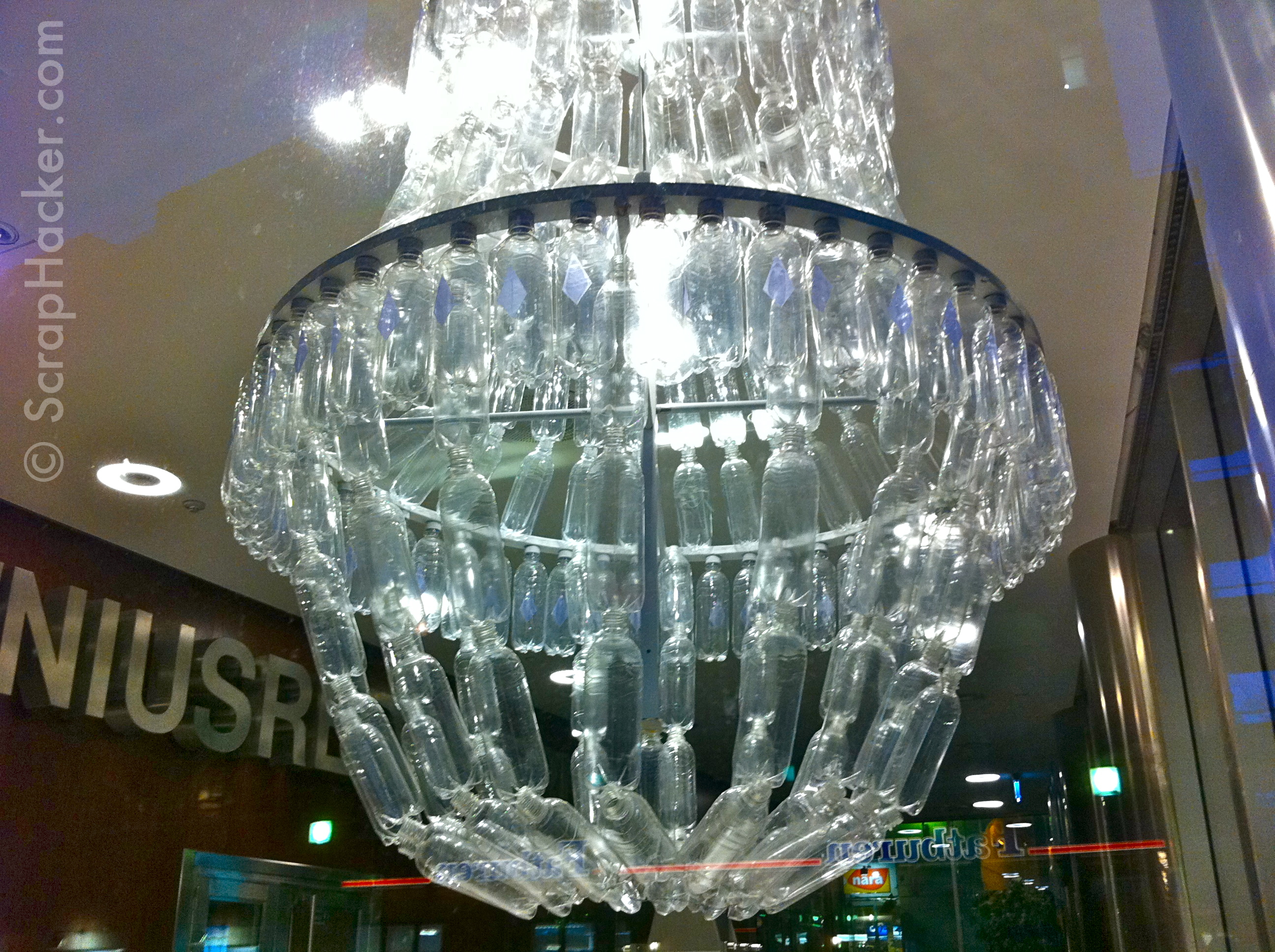Recycled Plastic Bottle Lamp Genius In A Bottle The Amazing Plastic Bottle Chandelier