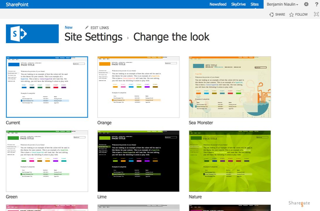 SharePoint 2013 color palette tool - ShareGate