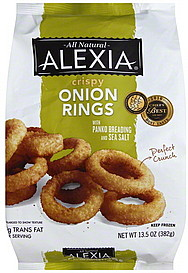 Alexia Onion Rings Crispy 13.5 oz Nutrition Information ...