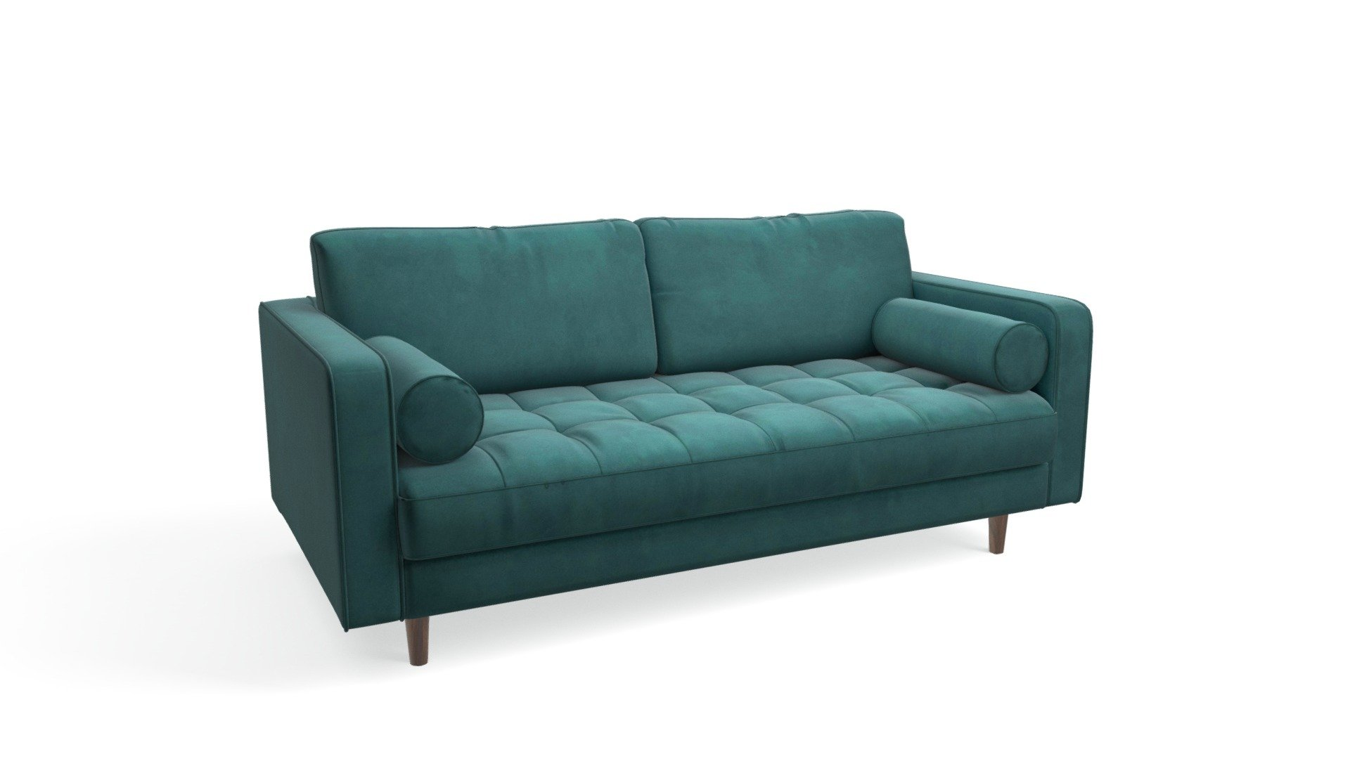 Sofa Petrol Scott 2 Seater Sofa, Petrol Cotton Velvet - Download Free 3d Model By Made.com (@made-it) [c823fc7] - Sketchfab
