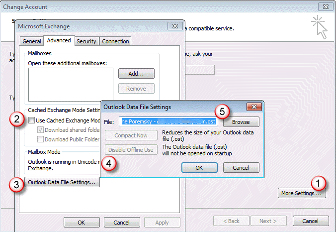 Create An Outlook Profile Outlook Moving An Outlook Offline Data File Ost