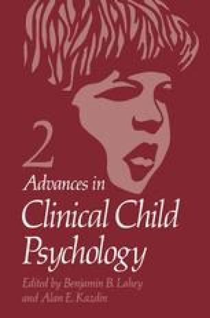 Generalization Processes in Child Behavior Change SpringerLink