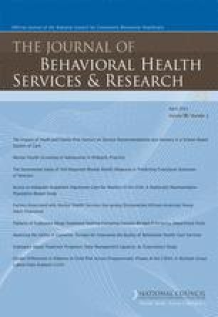 Factors Associated with Mental Health Services Use among