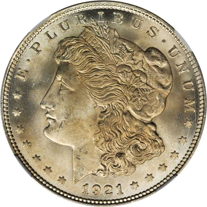 1921 Morgan $1 MS Morgan Dollars NGC