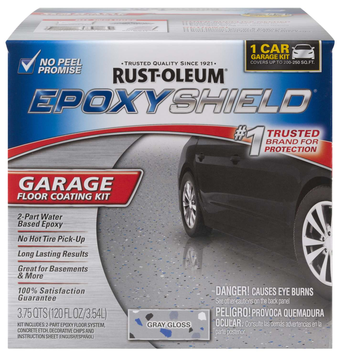 Garage Floor Paint Gloss Rust Oleum 251965 Gloss Gray Garage Floor Coating Kit At