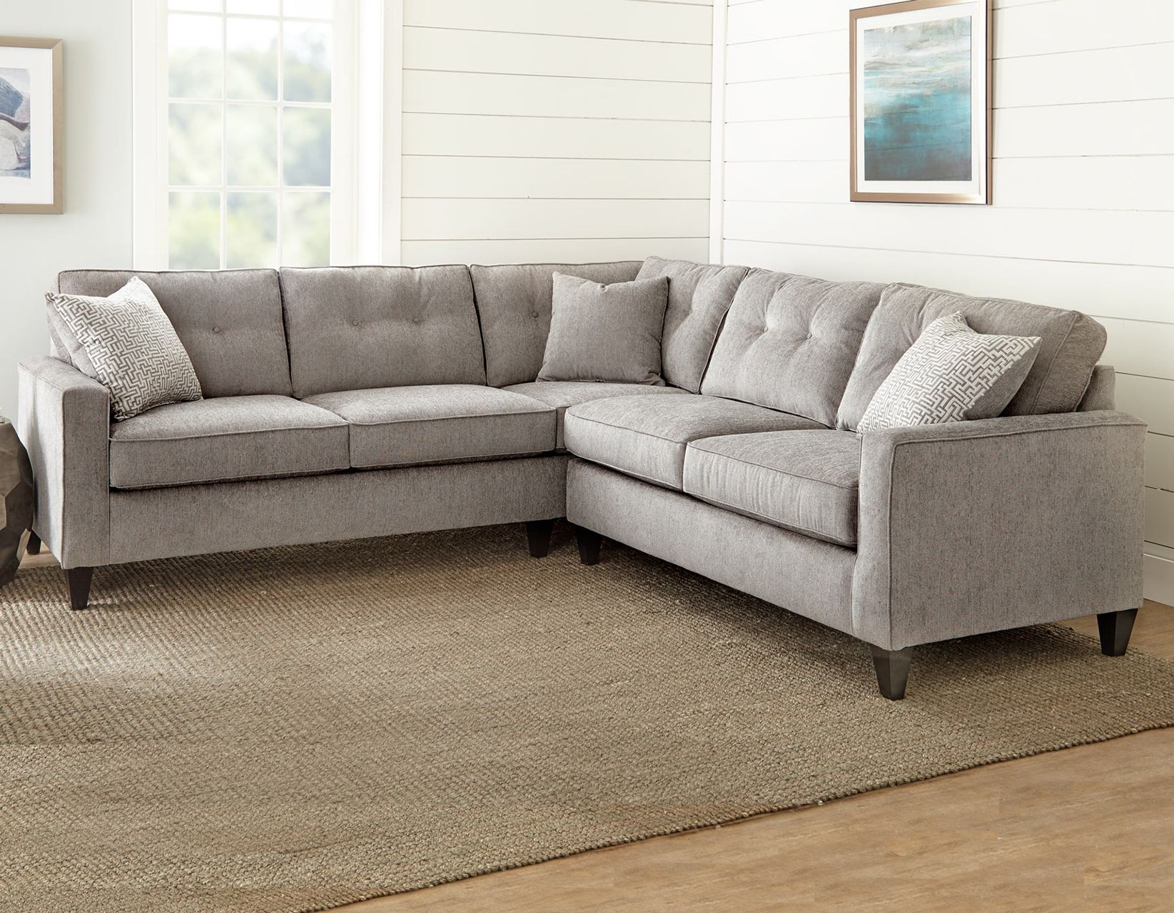 Steve Silver Md950raf Maddox Gray Right Arm Facing Corner Sofa With 1 Pillow At Sutherlands