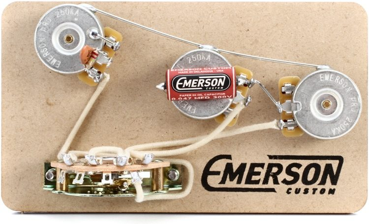 Emerson Custom 5-way Prewired Kit for Fender Stratocasters - 250k