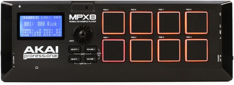 Akai Professional MPX8 SD Sample Pad Controller Sweetwater - sample controller