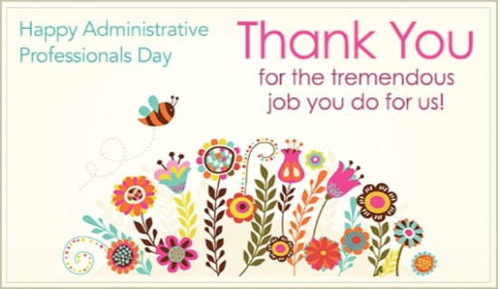 Administrative Professionals Day eCards - Free eMail Greeting Cards