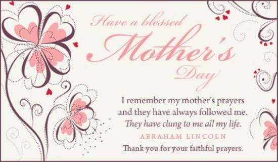 Faithful Prayers eCard - Free Mother\u0027s Day Cards Online - online printable mothers day cards