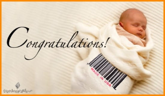Free Congratulations on Your New Baby! eCard - eMail Free