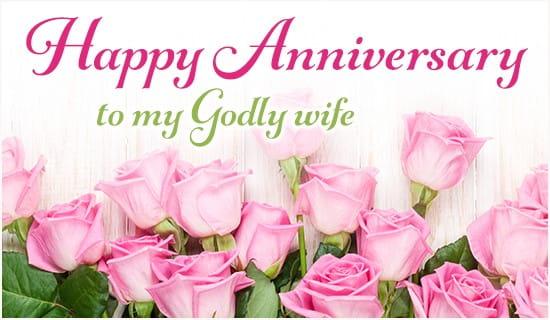Happy Anniversary to My Godly Wife eCard - Free Anniversary Greeting - free anniversary images