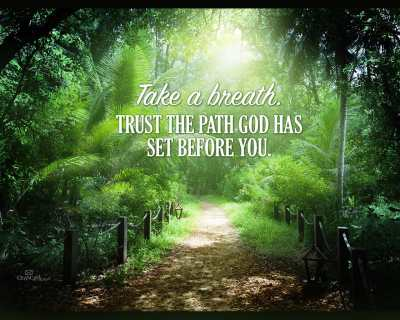 Trust God's Path Desktop Wallpaper - Free Backgrounds