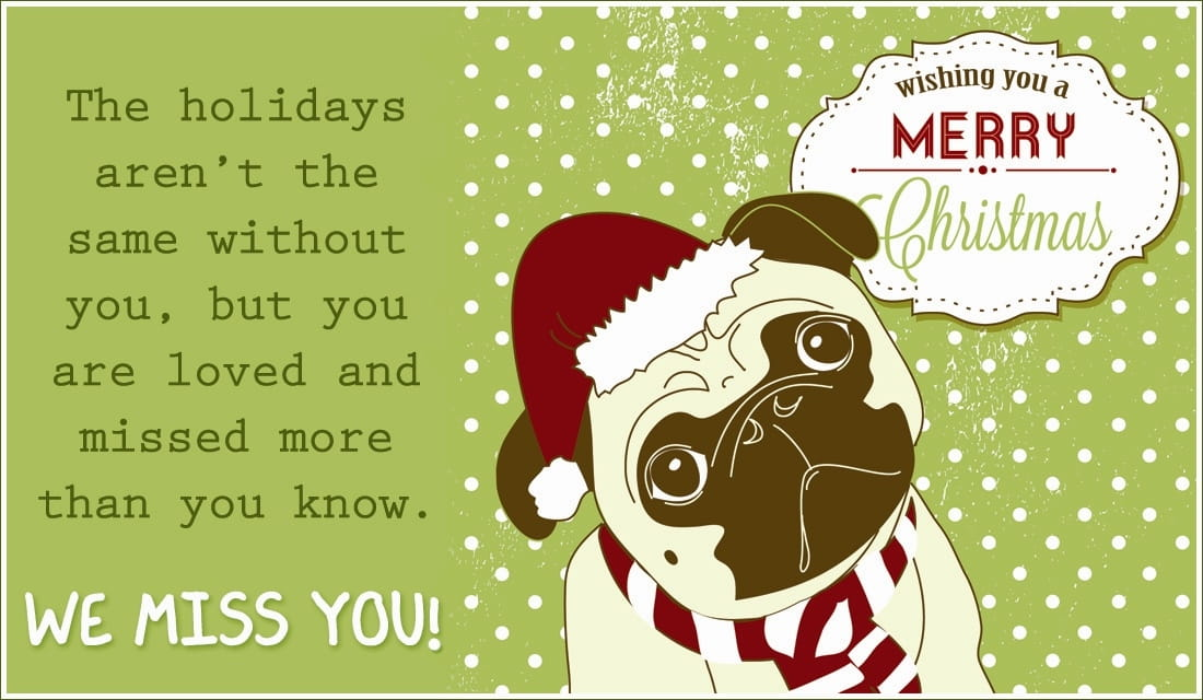 Merry Christmas Miss You eCard - Free Christmas Cards Online - how to address christmas cards