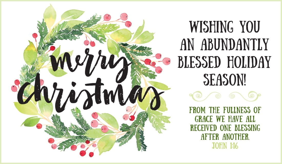 Merry Christmas - Abundantly Blessed eCard - Free Christmas Cards Online - how to address christmas cards