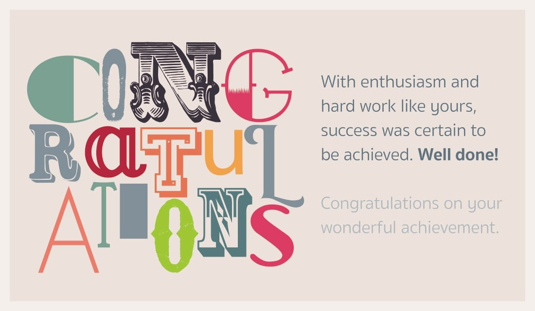 Free Congratulations! Well done eCard - eMail Free Personalized