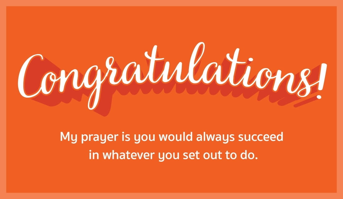 Free Congratulations! May you always succeed eCard - eMail Free