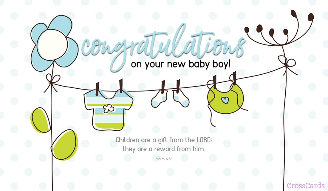 Free New Baby Boy eCard - eMail Free Personalized New Baby Cards Online