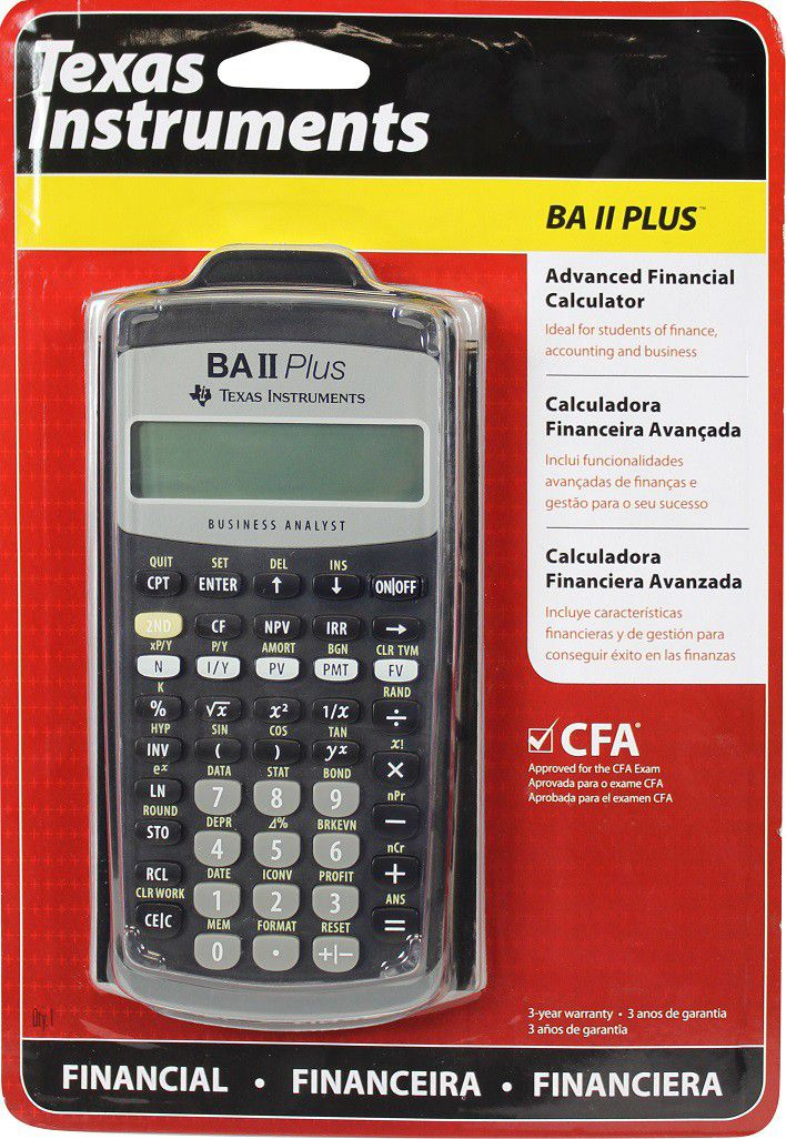 Texas Instruments Ba Ii Plus Financial Calculator Buy Online in