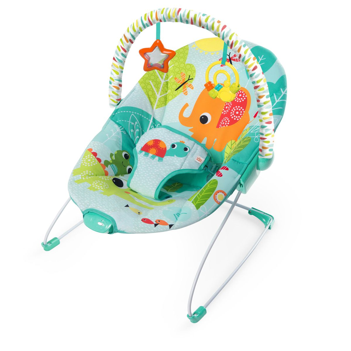 Bouncer Baby Bright Starts Vibrating Bouncer Raindrop Rainforest
