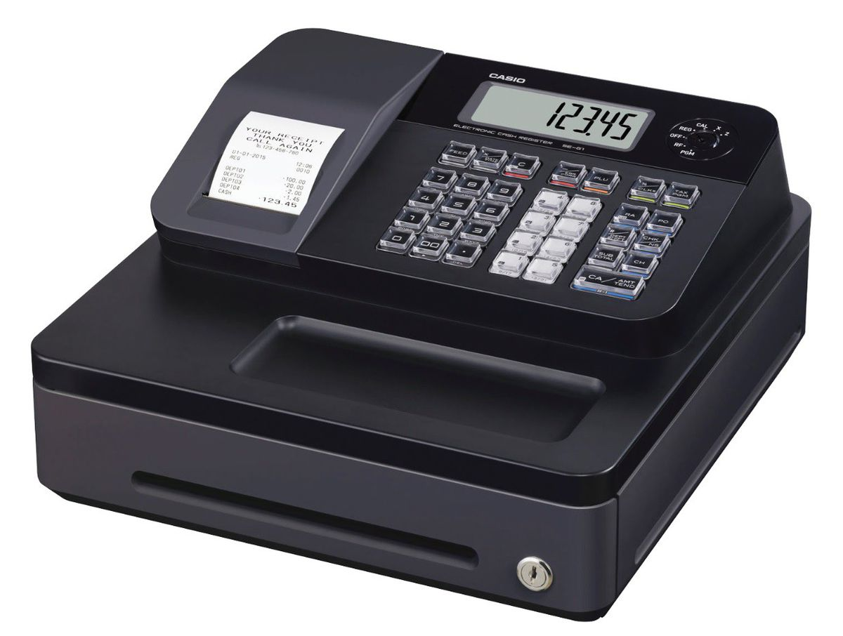 Buy Cash Register Casio Se G1s Electronic Cash Register Black Buy Online