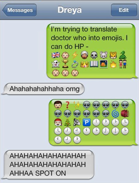 14 Creative Ways Geeks Use Emojis in Text Messages - TechEBlog - cool text message art