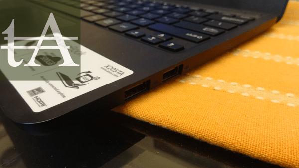 Asus Eeebook X205 USB Ports