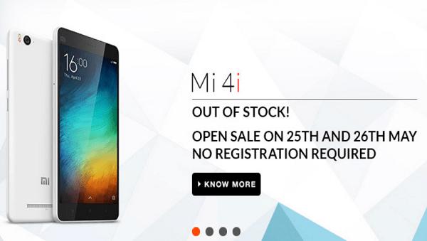 Xiaomi MI 4i Open Sale