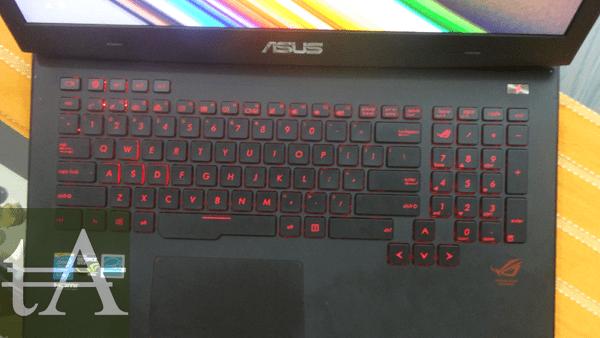 Asus ROG G751 Keyboard