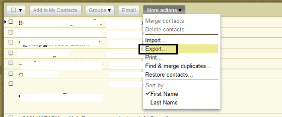 Gmail_Contact_Export