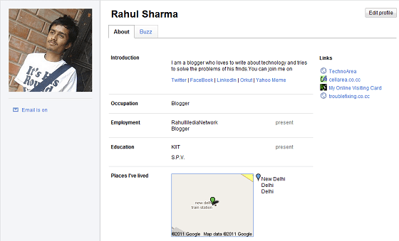 Google's New Profile