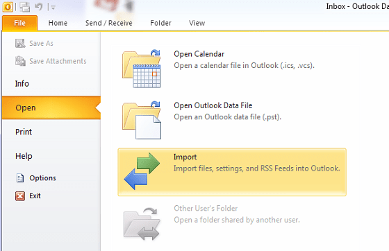 Import-In-Outlook