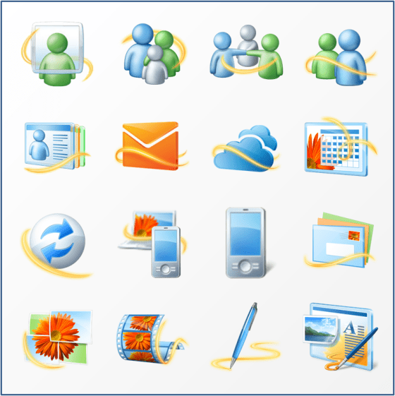 Windows Live Essential Icon Set